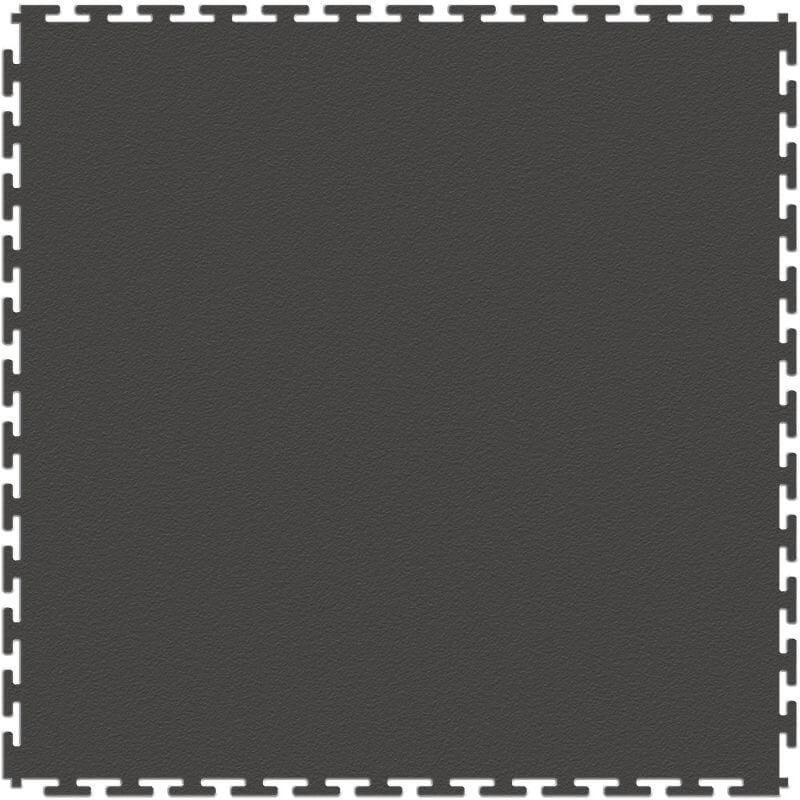 "Perfection Floor Tile Duro-Gym Vinyl Smooth Tiles - 7mm Thick (20.5"" x 20.5"") in Dark Gray Shown from the Top"