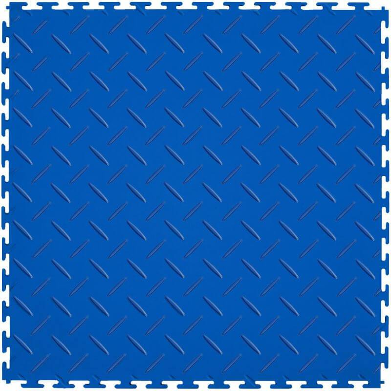 Perfection Floor Tile Vinyl Diamond Tiles in Blue Shown from the Top