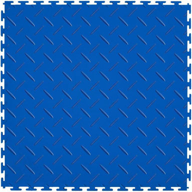 "Perfection Floor Tile Vinyl Diamond Tiles - 5mm Thick (20.5"" x 20.5"") in Blue Shown From the Top"
