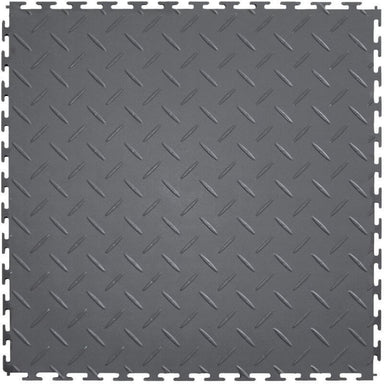 Perfection Floor Tile Vinyl Diamond Tiles in Dark Gray Shown from the Top