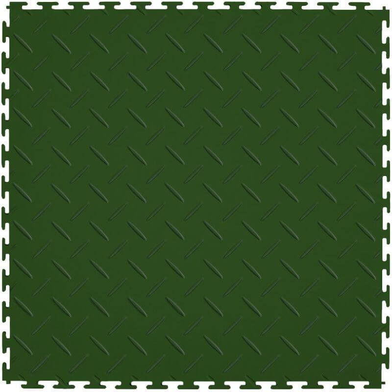 Perfection Floor Tile Vinyl Diamond Tiles in Green Shown from the Top