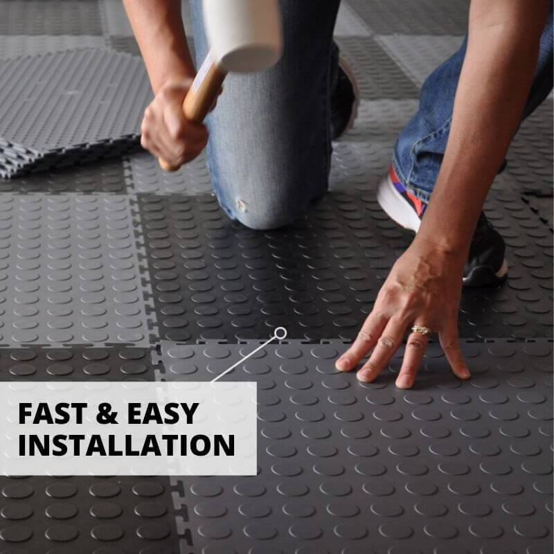Fast & Easy Installation for Perfection Floor Coin Tiles