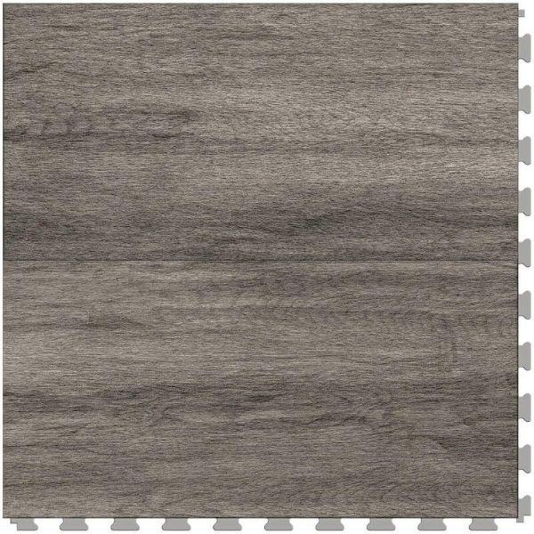"Perfection Floor Tile Breckenridge Wood Luxury Vinyl Tiles - 5mm Thick (20"" x 20"") with Ash Wood Pattern Shown From the Top"