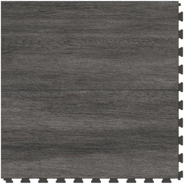"Perfection Floor Tile Breckenridge Wood Luxury Vinyl Tiles - 5mm Thick (20"" x 20"") with Black Wood Pattern Shown From the Top"