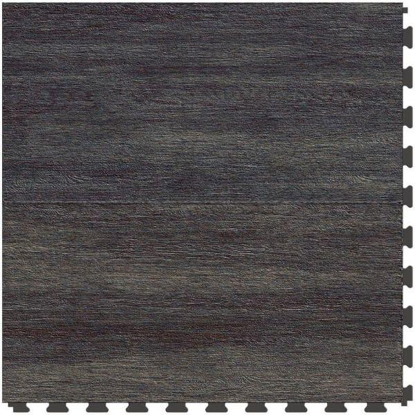 "Perfection Floor Tile Breckenridge Wood Luxury Vinyl Tiles - 5mm Thick (20"" x 20"") with Blue Mahoe Wood Pattern Shown From the Top"