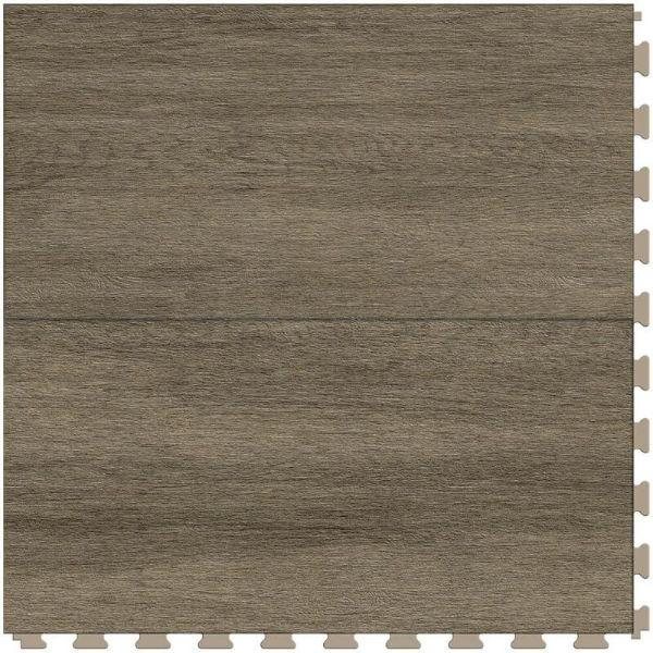 "Perfection Floor Tile Breckenridge Wood Luxury Vinyl Tiles - 5mm Thick (20"" x 20"") with Willow Wood Pattern Shown From the Top"