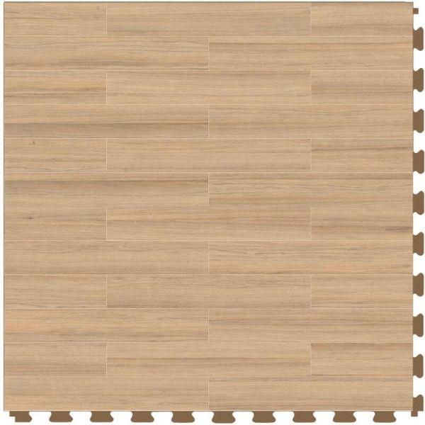 "Perfection Floor Tile Classic Plank Wood Luxury Vinyl Tiles - 5mm Thick (20"" x 20"") with Aprono Wood Pattern Shown From the Top"