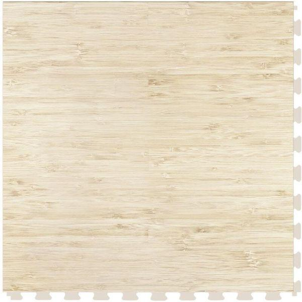 "Perfection Floor Tile Classic Plank Wood Luxury Vinyl Tiles - 5mm Thick (20"" x 20"") with Bamboo Wood Pattern Shown From the Top"