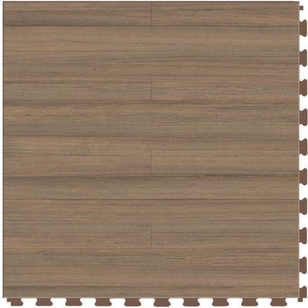 "Perfection Floor Tile Classic Plank Wood Luxury Vinyl Tiles - 5mm Thick (20"" x 20"") with Beechwood Pattern Shown From the Top"