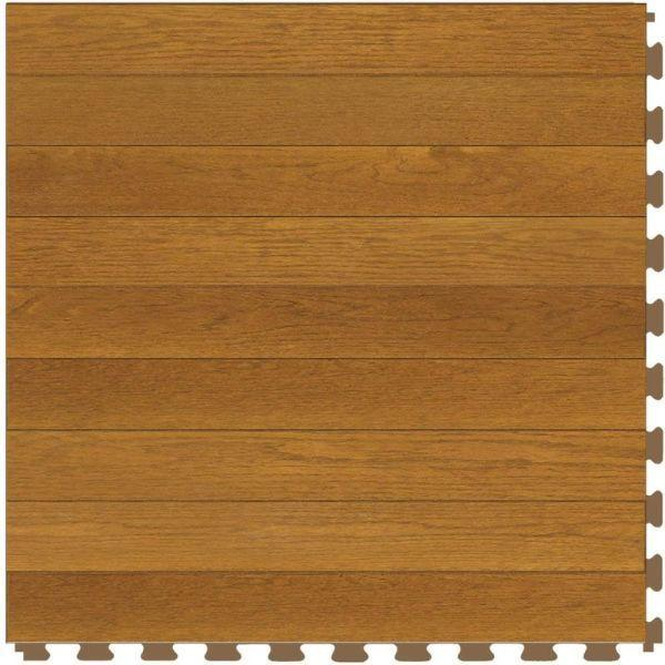 "Perfection Floor Tile Classic Plank Wood Luxury Vinyl Tiles - 5mm Thick (20"" x 20"") with Pine Wood Pattern Shown From the Top"