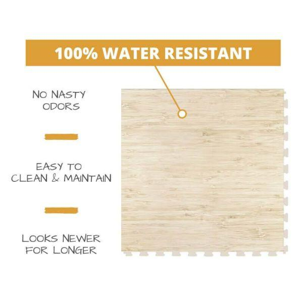 Perfection Floor Tile Classic Plank Wood Luxury Vinyl Tiles 100% water resistant to prevent nasty odors, easy to clean and maintain, and looking newer for longer