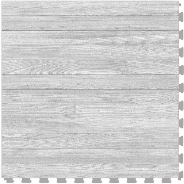 "Perfection Floor Tile Classic Plank Wood Luxury Vinyl Tiles - 5mm Thick (20"" x 20"") with South Shore Oak Wood Pattern Shown From the Top"