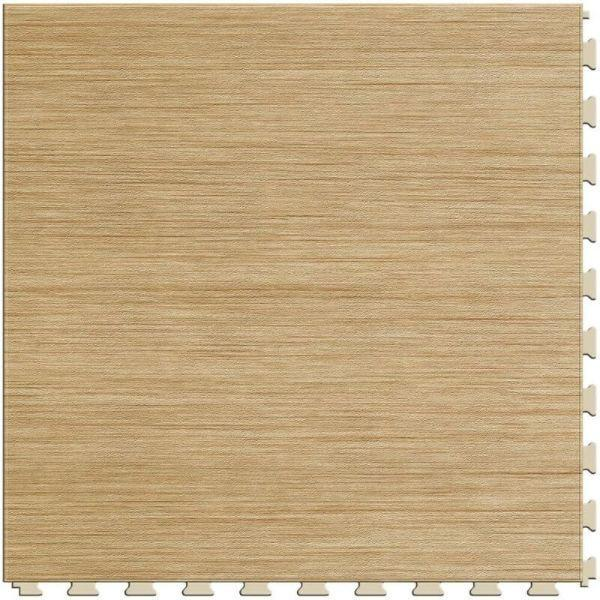 "Perfection Floor Tile Classic Wood Luxury Vinyl Tiles - 5mm Thick (20"" x 20"") with Birch Wood Pattern Shown From the Top"