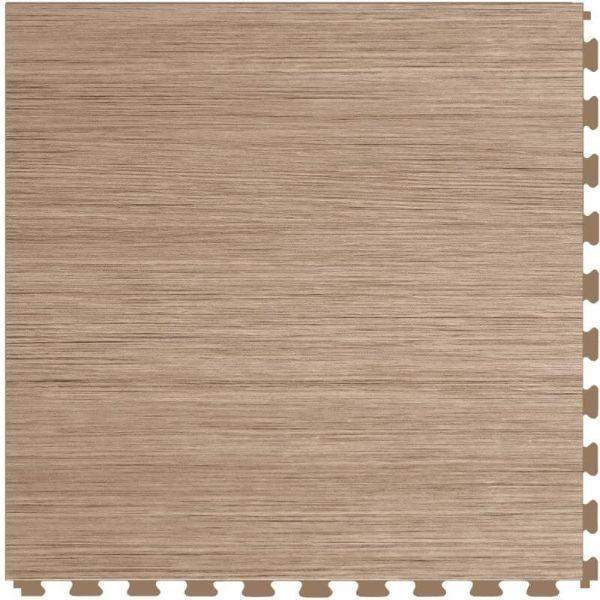"Perfection Floor Tile Classic Wood Luxury Vinyl Tiles - 5mm Thick (20"" x 20"") with Hickory Wood Pattern Shown From the Top"