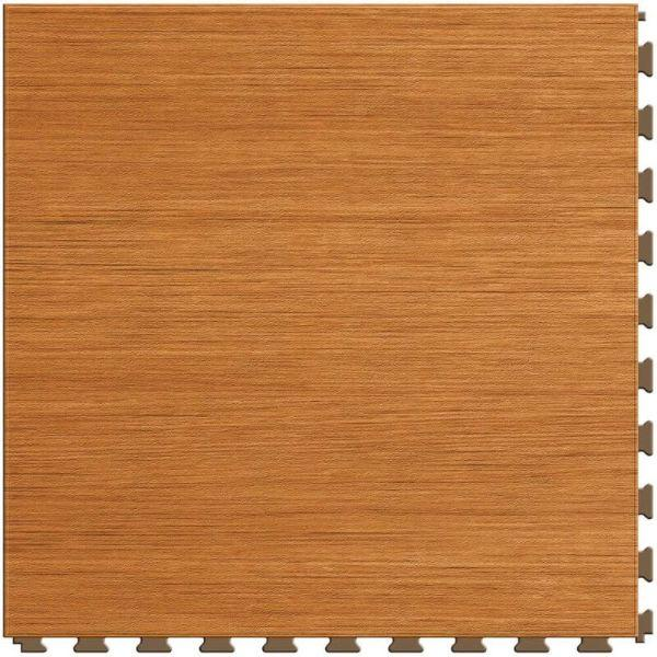 "Perfection Floor Tile Classic Wood Luxury Vinyl Tiles - 5mm Thick (20"" x 20"") with Maple Wood Pattern Shown From the Top"
