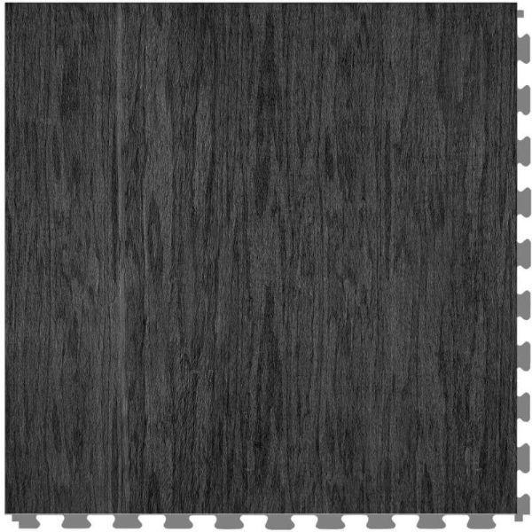 "Perfection Floor Tile Deadwood Luxury Vinyl Tiles - 5mm Thick (20"" x 20"") with Coal Chamber Wood Pattern Shown From the Top"