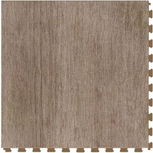 "Perfection Floor Tile Deadwood Luxury Vinyl Tiles - 5mm Thick (20"" x 20"") with Millhouse Wood Pattern Shown From the Top"
