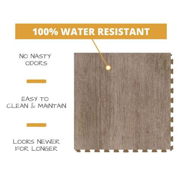 Perfection Floor Tile Deadwood Luxury Vinyl Tiles 100% water resistant to prevent nasty odors, easy to clean and maintain, and looking newer for longer