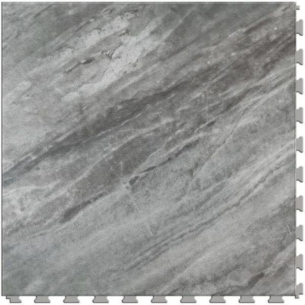 "Perfection Floor Tile Marble Luxury Vinyl Tiles - 5mm Thick (20"" x 20"") with Border Opal Pattern Shown From the Top"