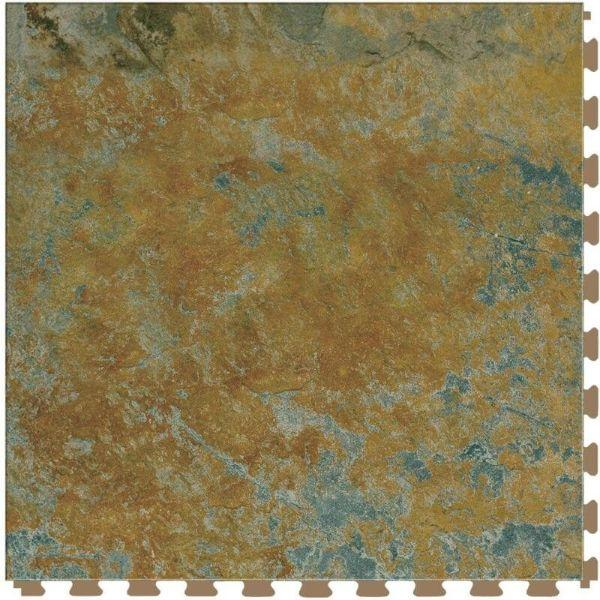 "Perfection Floor Tile Marble Luxury Vinyl Tiles - 5mm Thick (20"" x 20"") with Imperial Marble Pattern Shown From the Top"