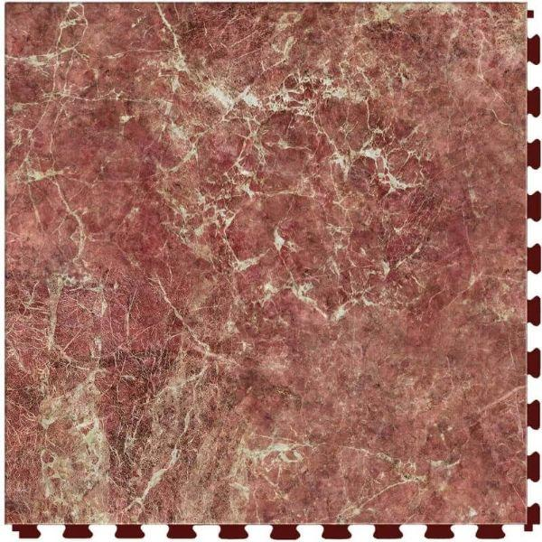 "Perfection Floor Tile Marble Luxury Vinyl Tiles - 5mm Thick (20"" x 20"") with Ritsona Marble Pattern Shown From the Top"