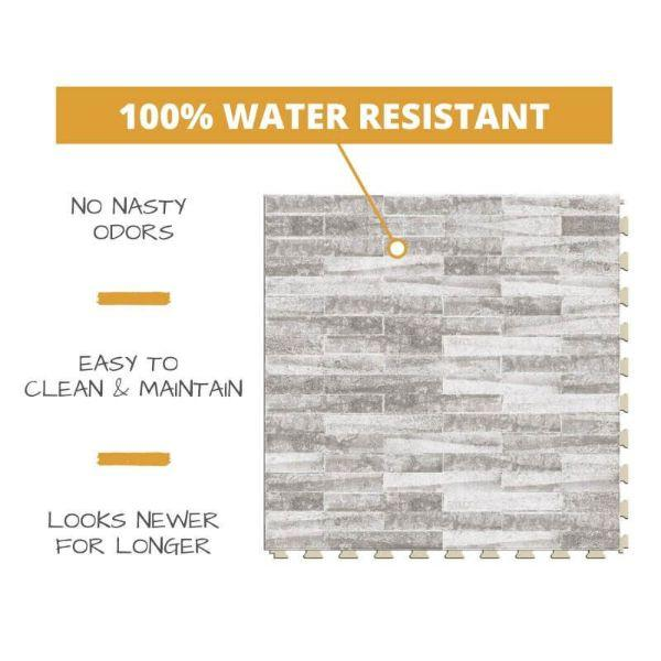 Perfection Floor Tile Mosaic Luxury Vinyl Tiles 100% water resistant to prevent nasty odors, easy to clean and maintain, and looking newer for longer