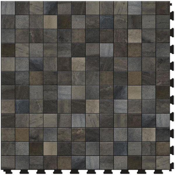 "Perfection Floor Tile Mosaic Luxury Vinyl Tiles - 5mm Thick (20"" x 20"") with Stroud Mosaic Pattern Shown From the Top"