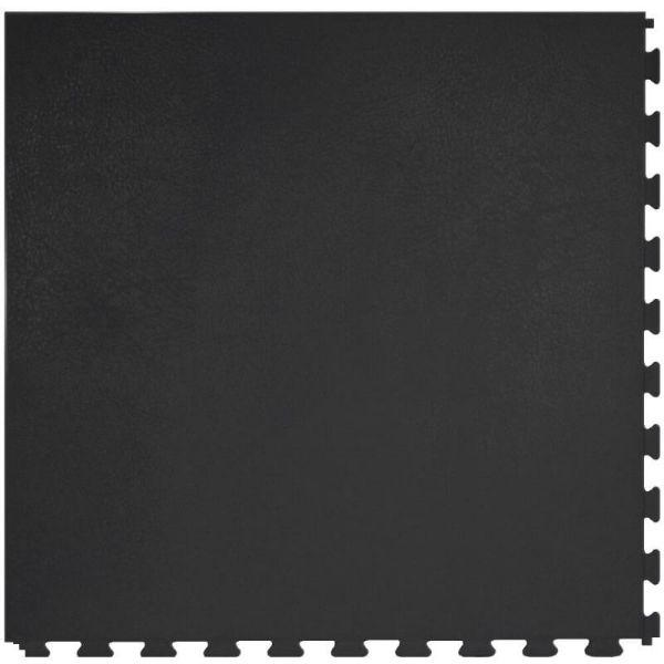 "Perfection Floor Tile Rawhide Leather Vinyl Tiles - 5mm Thick (20"" x 20"") in Black Rhino Color Shown From the Top"