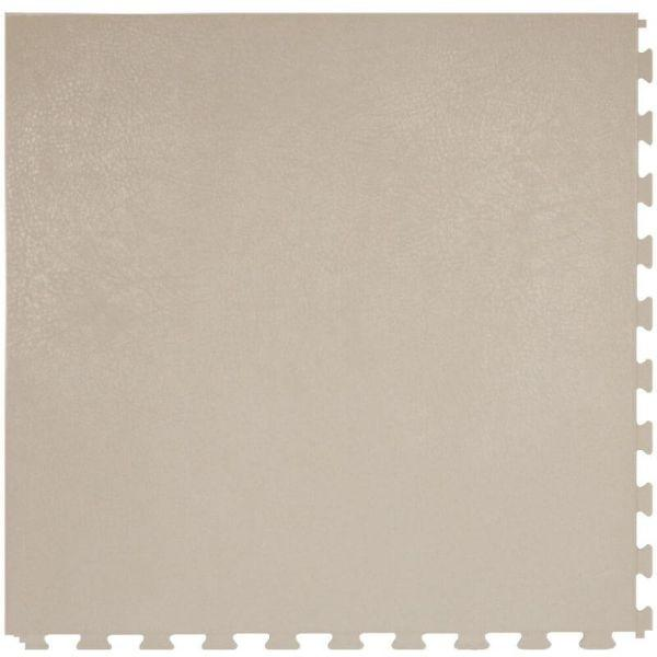 "Perfection Floor Tile Rawhide Leather Vinyl Tiles - 5mm Thick (20"" x 20"") in Buckskin Gray Color Shown From the Top"