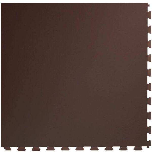 "Perfection Floor Tile Rawhide Leather Vinyl Tiles - 5mm Thick (20"" x 20"") in Buffalo Brown Color Shown From the Top"