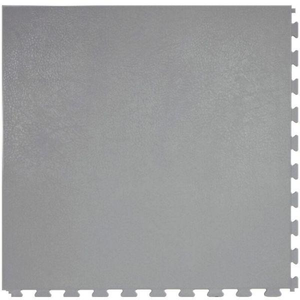 "Perfection Floor Tile Rawhide Leather Vinyl Tiles - 5mm Thick (20"" x 20"") in Eel Gray Color Shown From the Top"