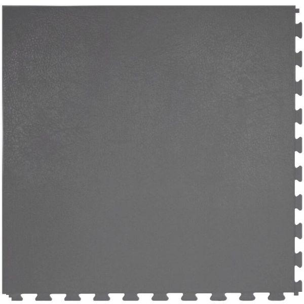 "Perfection Floor Tile Rawhide Leather Vinyl Tiles - 5mm Thick (20"" x 20"") in Gray Rhino Color Shown From the Top"
