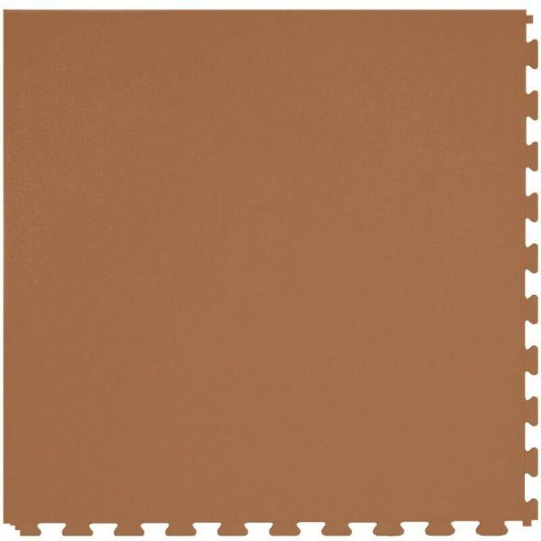 "Perfection Floor Tile Rawhide Leather Vinyl Tiles - 5mm Thick (20"" x 20"") in Palomino Brown Color Shown From the Top"