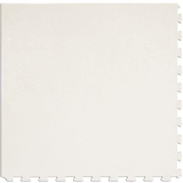"Perfection Floor Tile Rawhide Leather Vinyl Tiles - 5mm Thick (20"" x 20"") in Parchment White Color Shown From the Top"