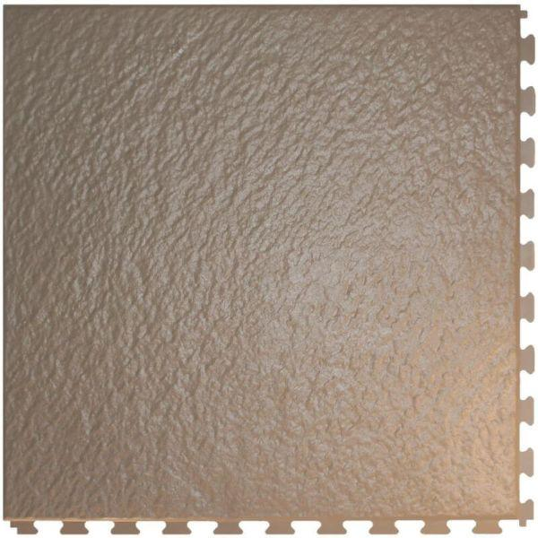 "Perfection Floor Tile Slate Vinyl Tiles - 5mm Thick (20"" x 20"") in Beige Color Shown From the Top"