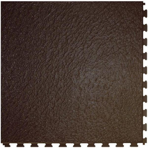 "Perfection Floor Tile Slate Vinyl Tiles - 5mm Thick (20"" x 20"") in Chocolate Color Shown From the Top"