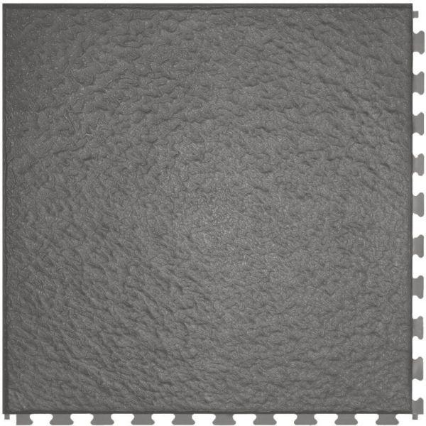 "Perfection Floor Tile Slate Vinyl Tiles - 5mm Thick (20"" x 20"") in Drak Gray Color Shown From the Top"