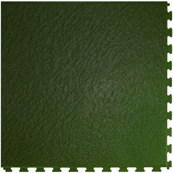 "Perfection Floor Tile Slate Vinyl Tiles - 5mm Thick (20"" x 20"") in Green Color Shown From the Top"