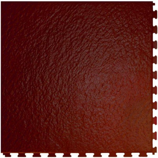 "Perfection Floor Tile Slate Vinyl Tiles - 5mm Thick (20"" x 20"") in Rosewood Color Shown From the Top"