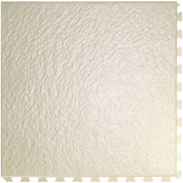 "Perfection Floor Tile Slate Vinyl Tiles - 5mm Thick (20"" x 20"") in Sandstone Color Shown From the Top"