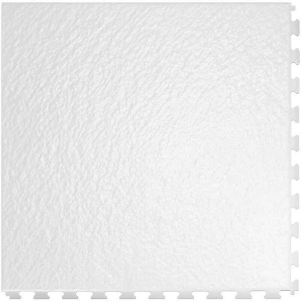 "Perfection Floor Tile Slate Vinyl Tiles - 5mm Thick (20"" x 20"") in White Color Shown From the Top"