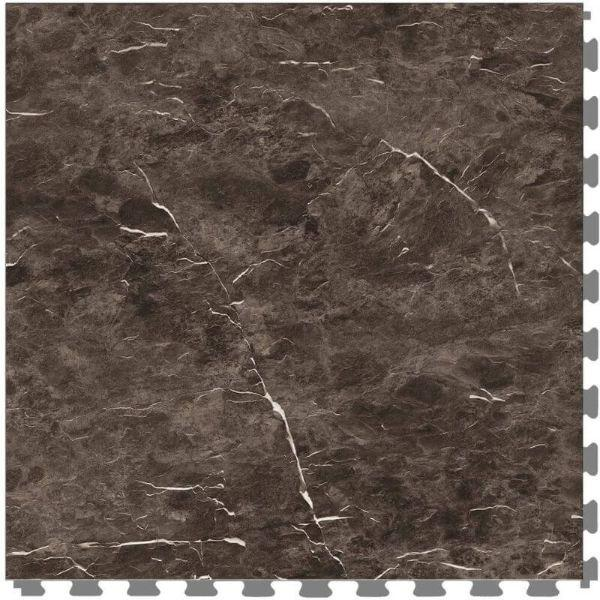 "Perfection Floor Tile Slate Stone Luxury Vinyl Tiles - 5mm Thick (20"" x 20"") with Norfolk Slate Pattern Shown From the Top"