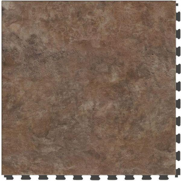 "Perfection Floor Tile Slate Stone Luxury Vinyl Tiles - 5mm Thick (20"" x 20"") with Pacific Slate Pattern Shown From the Top"