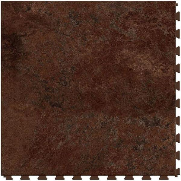 "Perfection Floor Tile Slate Stone Luxury Vinyl Tiles - 5mm Thick (20"" x 20"") with Solarius Slate Pattern Shown From the Top"