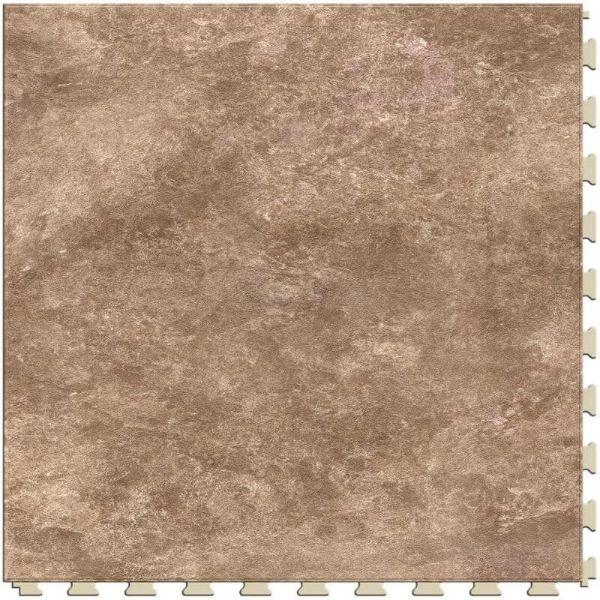 "Perfection Floor Tile Slate Stone Luxury Vinyl Tiles - 5mm Thick (20"" x 20"") with Venetian Granite Pattern Shown From the Top"