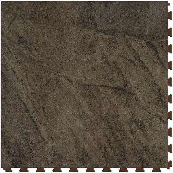 "Perfection Floor Tile Natural Creek Stone Luxury Vinyl Tiles - 5mm Thick (20"" x 20"") with Megata Stone Pattern Shown From the Top"