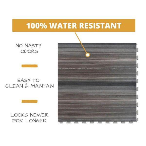 Perfection Floor Tile Natural Creek Stone Luxury Vinyl Tiles 100% water resistant to prevent nasty odors, easy to clean and maintain, and looking newer for longer