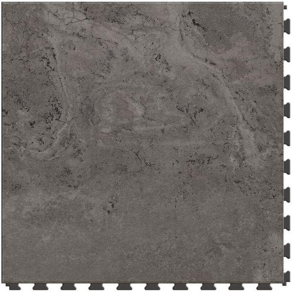 "Perfection Floor Tile Tivoli Stone Luxury Vinyl Tiles - 5mm Thick (20"" x 20"") with Amtico Tivoli Pattern Shown From the Top"