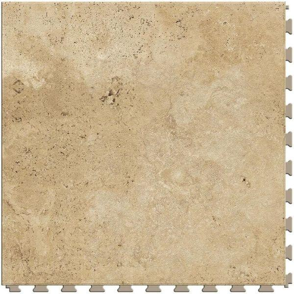"Perfection Floor Tile Tivoli Stone Luxury Vinyl Tiles - 5mm Thick (20"" x 20"") with Narvana Tivoli Pattern Shown From the Top"