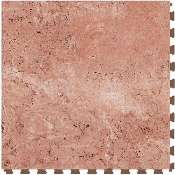 "Perfection Floor Tile Tivoli Stone Luxury Vinyl Tiles - 5mm Thick (20"" x 20"") with Rose Tivoli Pattern Shown From the Top"